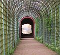 """Trompe-l'œil -Mural in Schwetzingen, Germany (the view """"through"""" the wall at the end)"""