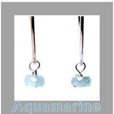 Some sweet, little aquamarine drops for March birthdays #aquamarine #birthdaygift www.jewelya.com