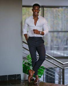 Black Men Summer Fashion, Black Men Street Fashion, Summer Outfits Men, Stylish Mens Outfits, Business Casual Black Men, Black Men Casual Style, Trajes Business Casual, Black Man, Men Graduation Outfit
