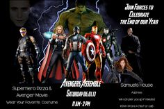 Avenger Invitation for Boys Party