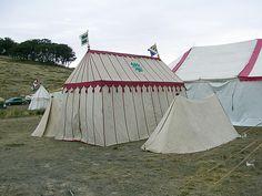 Rectangular tent - no guy ropes. Rowan and Nicodemus' tent by Velorutionary, via Flickr