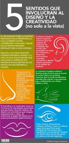 El diseño involucra a los 5 sentidos y no sólo a la vista #infografia #infographic #design   TICs y Formación