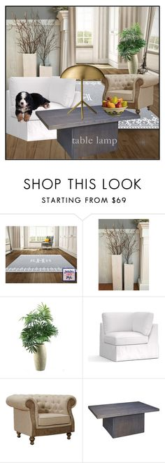 """""""Table Lamp"""" by din-sesantadue ❤ liked on Polyvore featuring interior, interiors, interior design, home, home decor, interior decorating, Parlor, Pottery Barn, Armen Living and Bloomingville"""
