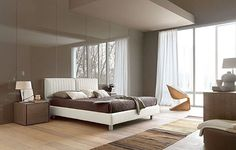 contemporary leather double bed ATLANTE by Fausto Boscariol EUROPEO