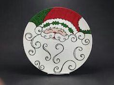 Ceramic Santa Plate