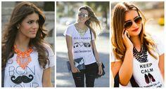 Priscilla Queiroz: Camiseta + Maxi colar