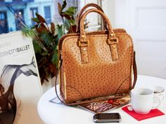 Ostrich-Embossed Shopper by Ivanka Trump