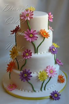 Gerbera Daisy Wedding Cake