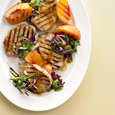 Vanilla Peach Pork Chops