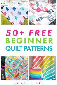 Beginner Quilt Patterns Free, Free Baby Quilt Patterns, Quilt Square Patterns, Patchwork Quilt Patterns, Modern Quilt Patterns, Quilting For Beginners, Beginner Quilting, Quilting Patterns, Quilting Projects
