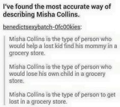 Collins Is The Type Of Person Who Renews His Wedding Vows In Drag Holding A  Bouquet Of Vegetables In A Grocery Store. Thatu0027s Why Heu0027s A Beautiful Soul.  Misha Collins Resume