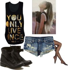"""""""you only live once so you otta look out"""" by raynefalls on Polyvore"""