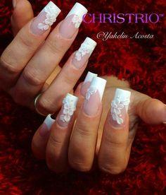 #nail #art #wedding #nails pretty idea but not this long!!!