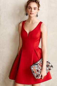 Wear this sexy skater dress for a party worthy look that will sure get you compliments. #dress #red #maykool #fashion