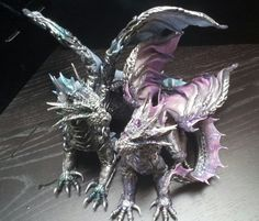 Cake topper Silver Dragons by AstridMakosla on deviantART