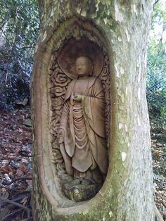Buddhist tree shrine