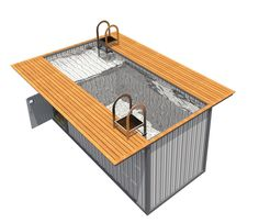 swimming pool made from shipping container