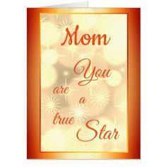 Giant Mom Birthday Luxury Modern Design Card