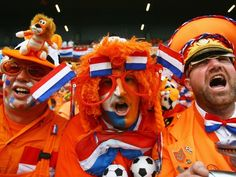 When the stadium is filled with crazy fans covered in orange, you know Holland is playing!