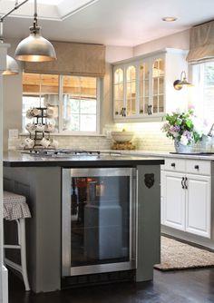 Wine Fridge - Top 10 Favorite Modern Farmhouse Blogger Home Tours | Blesser House
