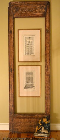 #vintage door used as a #frame All About Vignettes: A Way With Empty Frames Part Two