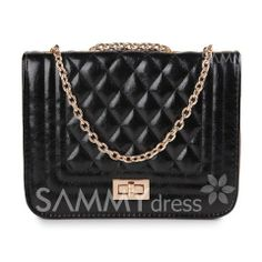 $9.78 Elegant Women's Shoulder Bag With Checked and PU Leather Design