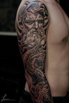 classic renaissance realistic sculpture portrait tattoo