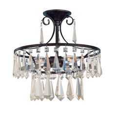 World Imports 5873-89 3 Light Lille SemiFlush Semi Flush Ceiling Light, Bronze