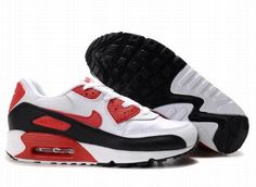 online retailer 0f941 4fbff Nike Air Max 90 White Varsity Red Black