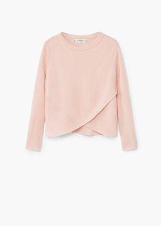 Textured crossover sweater -  Kids | MANGO Kids Canada