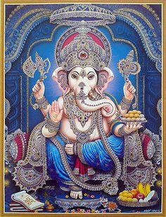 Chosen Power Rituals To Increase Positive Vibes for New Year 2019 Shiva Art, Ganesha Art, Hindu Art, Krishna Art, Sri Ganesh, Ganesh Lord, Ganesha Pictures, Ganesh Images, Krishna Images