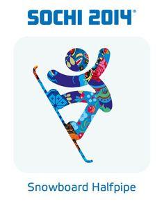 2014 Sochi Winter Olympic Games: Snowboard Halfpipe Pictogram whyaintyoujibbin.com