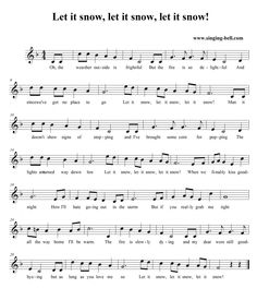 Let it snow - Music Score  Free mp3 download, midi download, lyrics & score: http://www.singing-bell.com/let-it-snow-let-it-snow-let-it-snow-mp3/