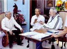 Sostiene Fidel encuentro con Nguyen Phu Trong: Según el líder vietnamita «la reunión fue muy cordial y muy interesante, sin ningún protocolo, como hermanos conviviendo en la misma casa (...) Al entablar la conversación, nos dimos cuenta de que tenemos muchas cosas para reflexionar. Fidel habló no solamente de temas políticos, sino también de la ciencia y la técnica»