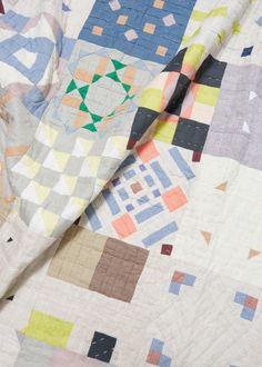 by Thompson Street Studio, Totokaelo Tile Quilt - New Arrivals - Art–Object Textiles, Textile Prints, Quilting Projects, Quilting Designs, Sewing Projects, Image Basket, Modern Quilt Blocks, Colorful Quilts, Textile Fiber Art