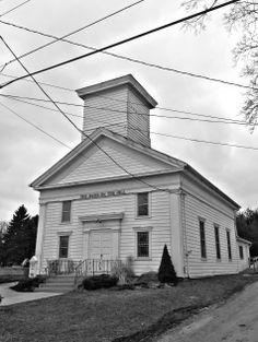 Mausoleum In The Old Baptist Cemetery Garrettsville Ohio