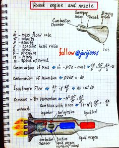 #Rocket #Engine and #Nozzle #Illustration by #Physics #Teacher #Yuri #Kovalenok #jurij0001 Physics Notes, Physics And Mathematics, Quantum Physics, Physics 101, Modern Physics, Engineering Science, Mechanical Engineering, Electrical Engineering, Engineering Notes