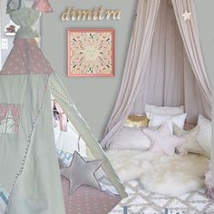 The rooms of your dreams by Playroom Decor, Nursery Decor, Canopy, Dreaming Of You, Toddler Bed, Girly, Cushions, Rooms, Boho