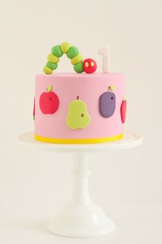 hungry little caterpillar cake