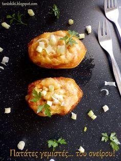Πατάτες γεμιστές ...τί καλύτερο; Vegetables, Food, Essen, Vegetable Recipes, Meals, Yemek, Veggies, Eten