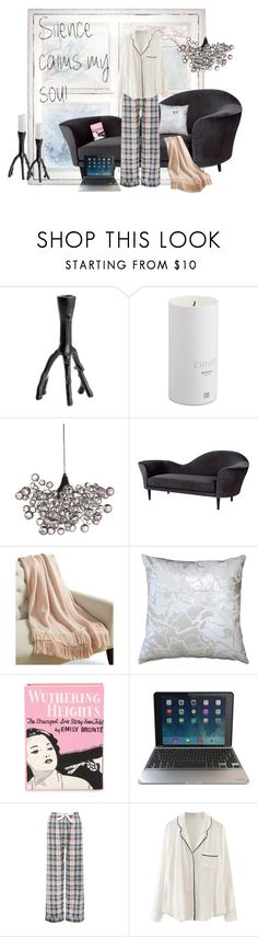 """Pajamas All Day"" by cinnamongirl21 ❤ liked on Polyvore featuring Gubi, Martha Stewart, Pillow Decor, Olympia Le-Tan, ZAGG, M&Co and WithChic"