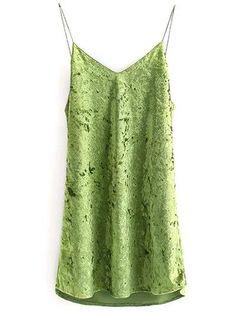 Terciopelo arrugado vestido de Cami