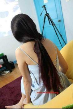 Cut My Hair, Long Hair Cuts, Long Hair Styles, Ponytail Updo, Pigtail Braids, Hair Buns, Silky Hair, Beautiful Long Hair, Braid Styles