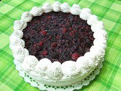 Mascarponés joghurttorta, vegye bogyós gyümölcsökkel Dobos Torte Recipe, Cake Recipes, Pie, Sweets, Food, Cakes, Hungarian Recipes, Torte, Cake