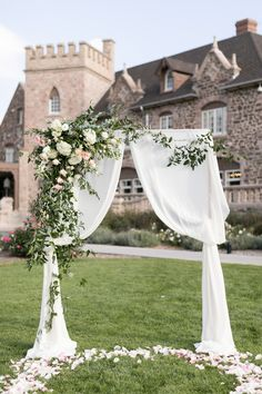 Timeless and Romantic Summer Highlands Ranch Mansion Wedding. A Classy Colorado Mansion Wedding By Amy Caroline Photography Wedding Table Themes, Wedding Centerpieces, Wedding Decorations, Wedding Arbors, Wedding Ceremony Arch, Wedding Venues, White Wedding Arch, White Wedding Flowers, Highlands Ranch Mansion