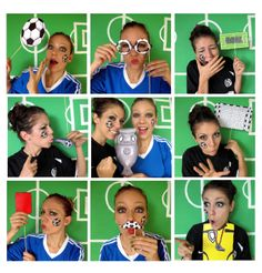 soccer photo booth props