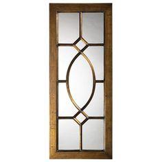 """Dayton Bronze Window 53"""" High Wall Mirror"""