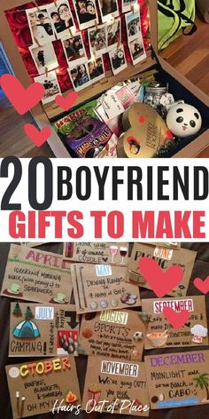 Cute Gifts For Your Boyfriend, Handmade Gifts For Boyfriend, Christmas Ideas For Boyfriend, Diy Gifts For Boyfriend Christmas, Cute Ideas For Boyfriend, Diy Projects For Boyfriend, Amazing Boyfriend, Boyfriend Crafts, Birthday Gifts For Boyfriend Diy