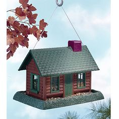 North States Log Cabin Village Collection Bird Feeder $27.97 Walmart.com