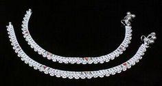 Silver Anklets, Silver Jewelry, Anklet Jewelry, Diamond, Bracelets, Ebay, Women, Bangles, Women's